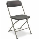 Contoured back folding chair