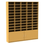 55 Pigeon Hole Storage Unit with Cupboard