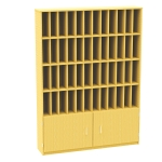 48 Pigeon Hole Post Unit with Cupboard